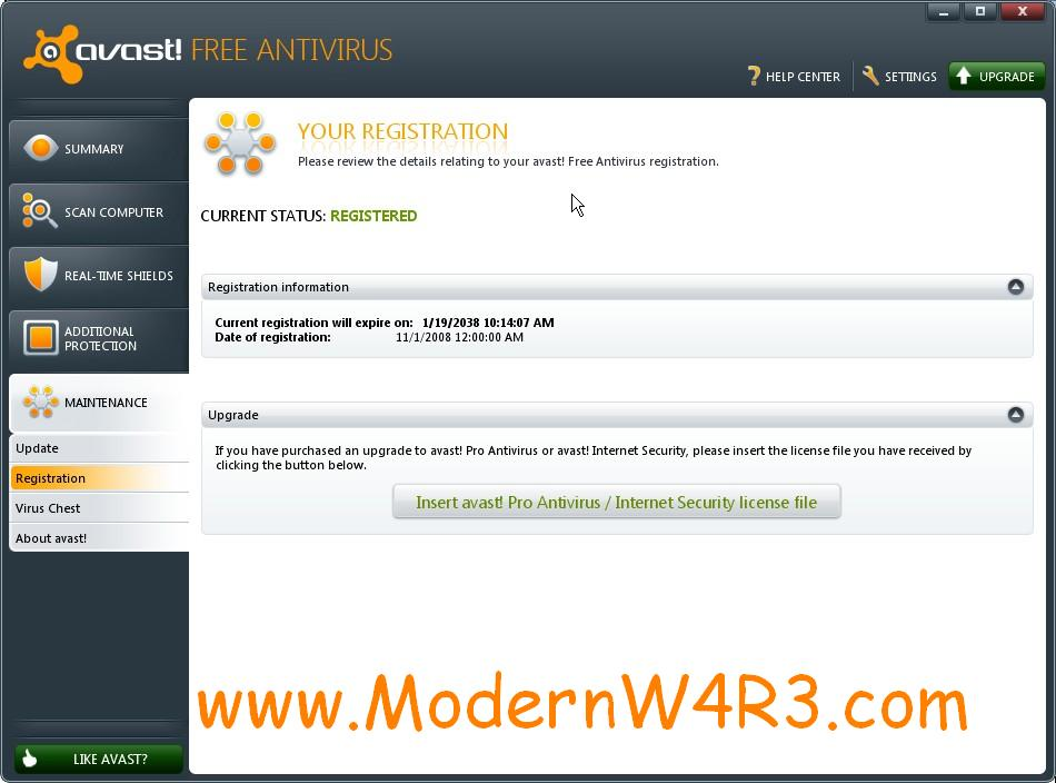 Avast antivirus 4 6.0 pro license file
