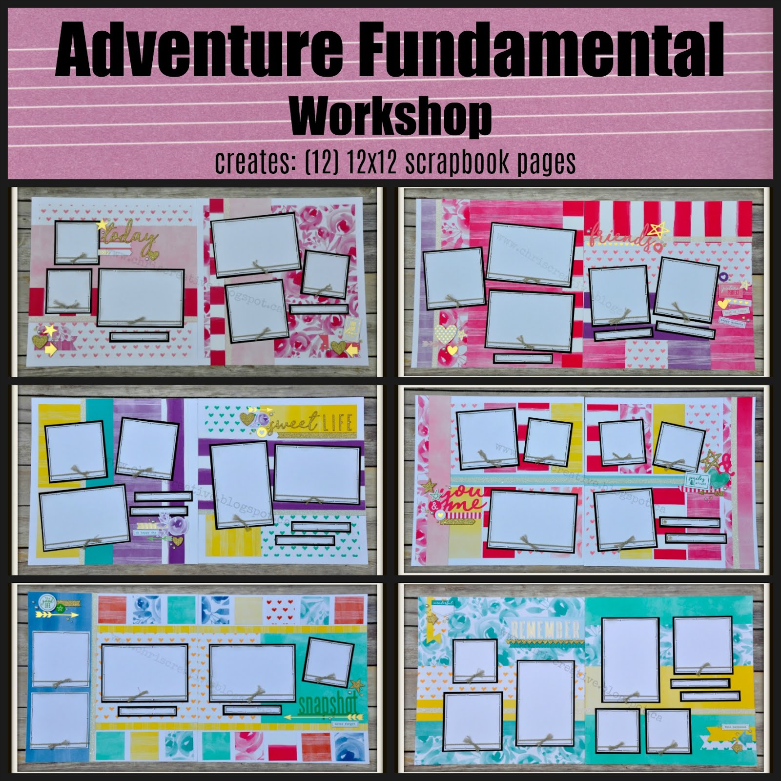 Adventure Scrapbooking Workshop
