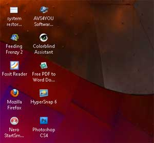 resize icon desktop windows 7