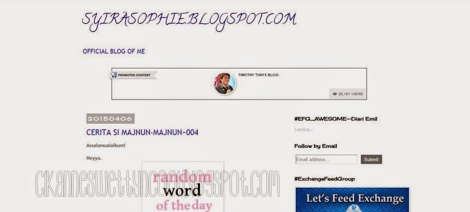 blog syira sophie