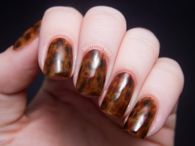 Tortoiseshell Nails | Chalkboard Nails | Nail Art Blog