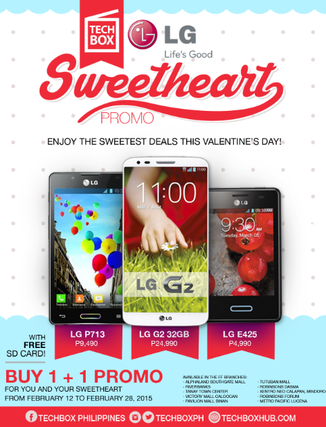Techbox'Sweetheart' Buy-1, Take-1 Promo