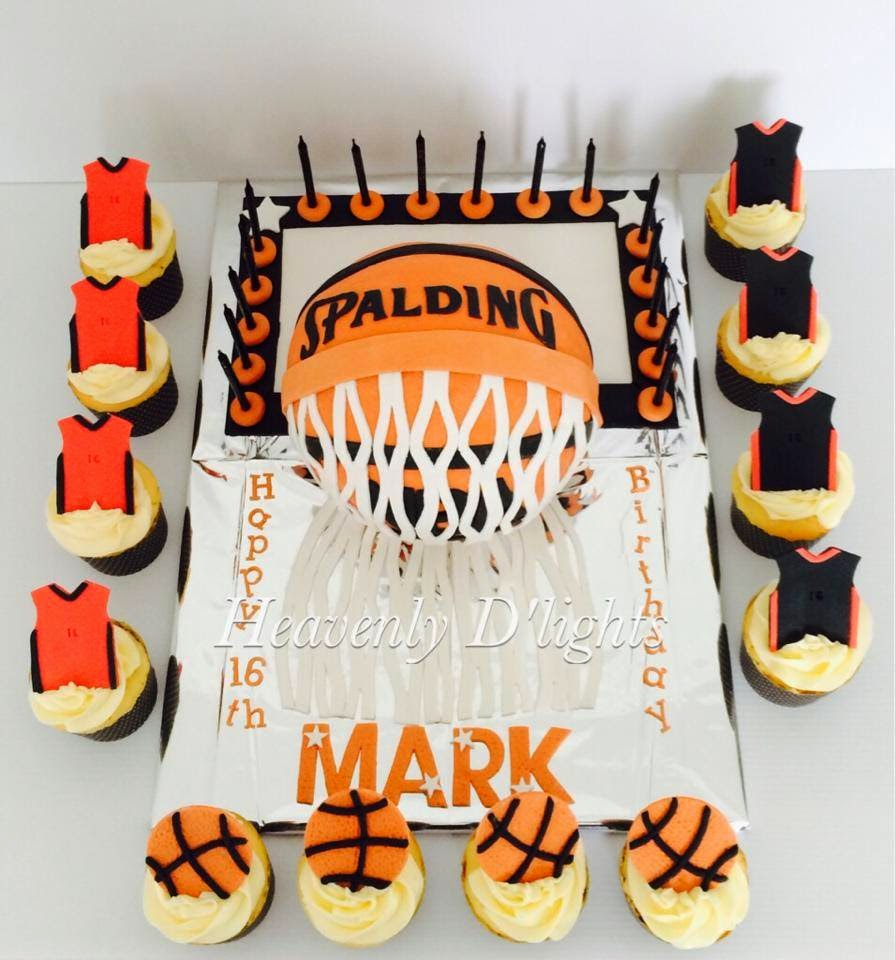 how to make a basketball cake for a birthday
