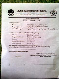 Form Surat Kehilangan KTM