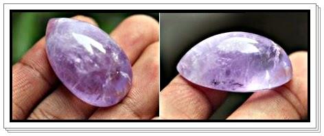 Liontin akik ungu simbol kasih dan pengasih