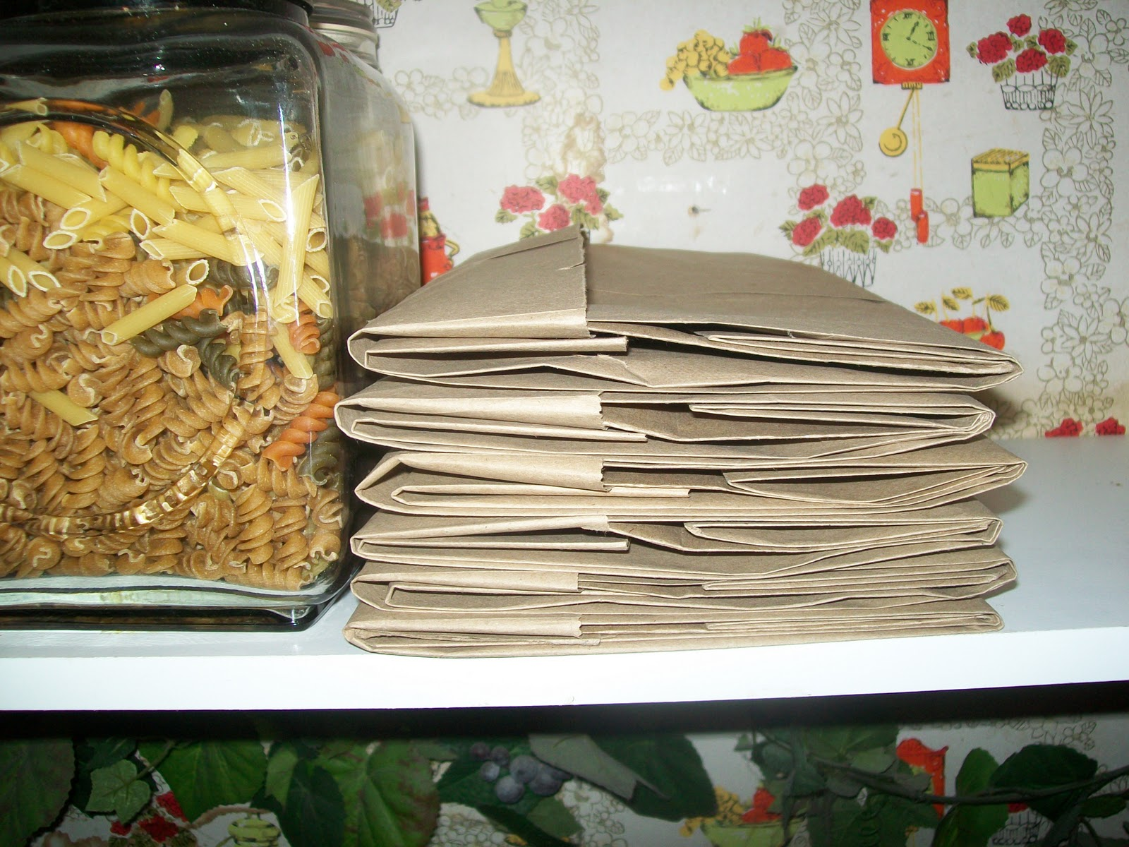 How To Fold A Paper Grocery Sack For Storage
