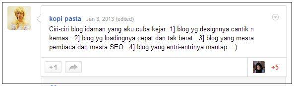 blog idaman