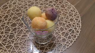 patates salatası dondurma sunumu