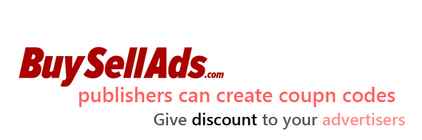 Buysellads publishers can now create discount coupon codes for advertisers