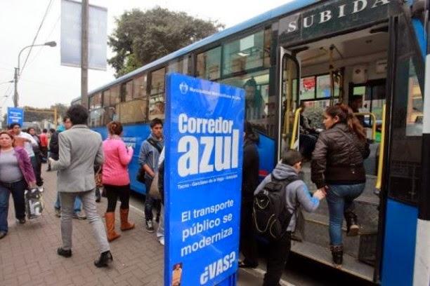 Precio costo de pasajes en el corredor azul, cuándo comienza, rutas alimentadoras, por dónde pasará Lima 2014