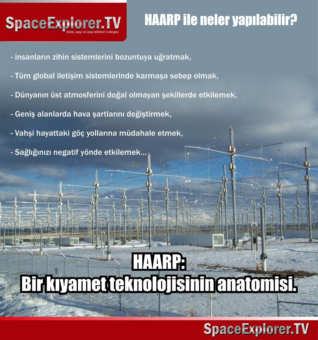 HAARP, Zihin kontrolü, Elektromanyetik savaş, İklim savaşları, İklim silahları, ABD, SSCB, Uçak kazaları, 11 Eylül saldırıları, Aydoğan Vatandaş, nedir, Yapay deprem, Yapay yağış, Yapay hortumlar,