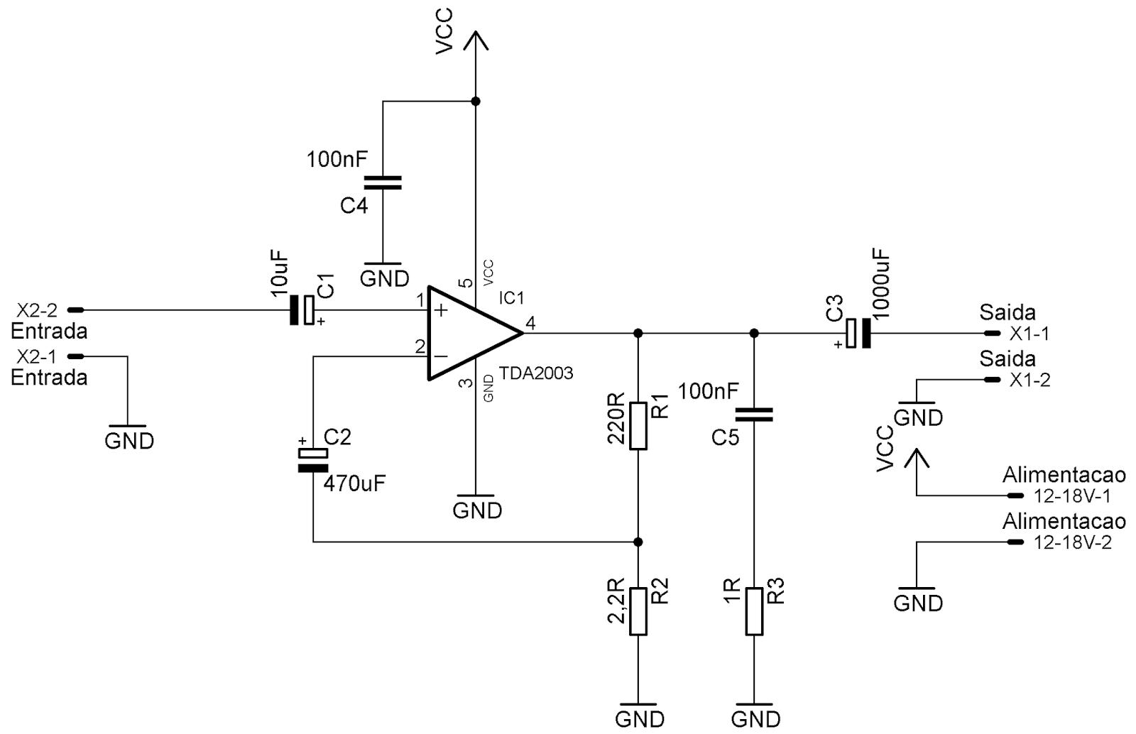 adnan eletr u00f4nica  amplificador 10w com tda2003