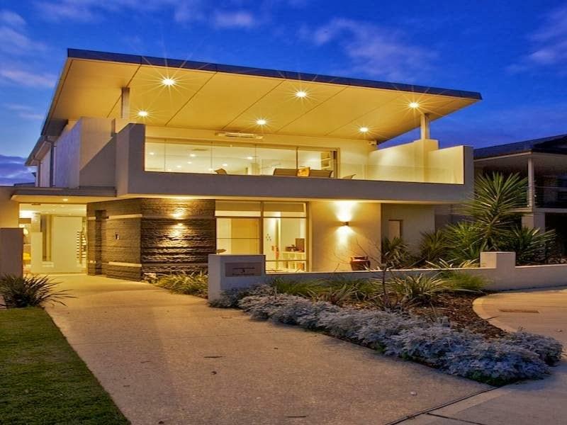 Hogares frescos fachadas de casas especial de hogares for Modelo de casa con terraza