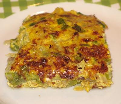 Tortino pasquale al forno con asparagi uova e carne