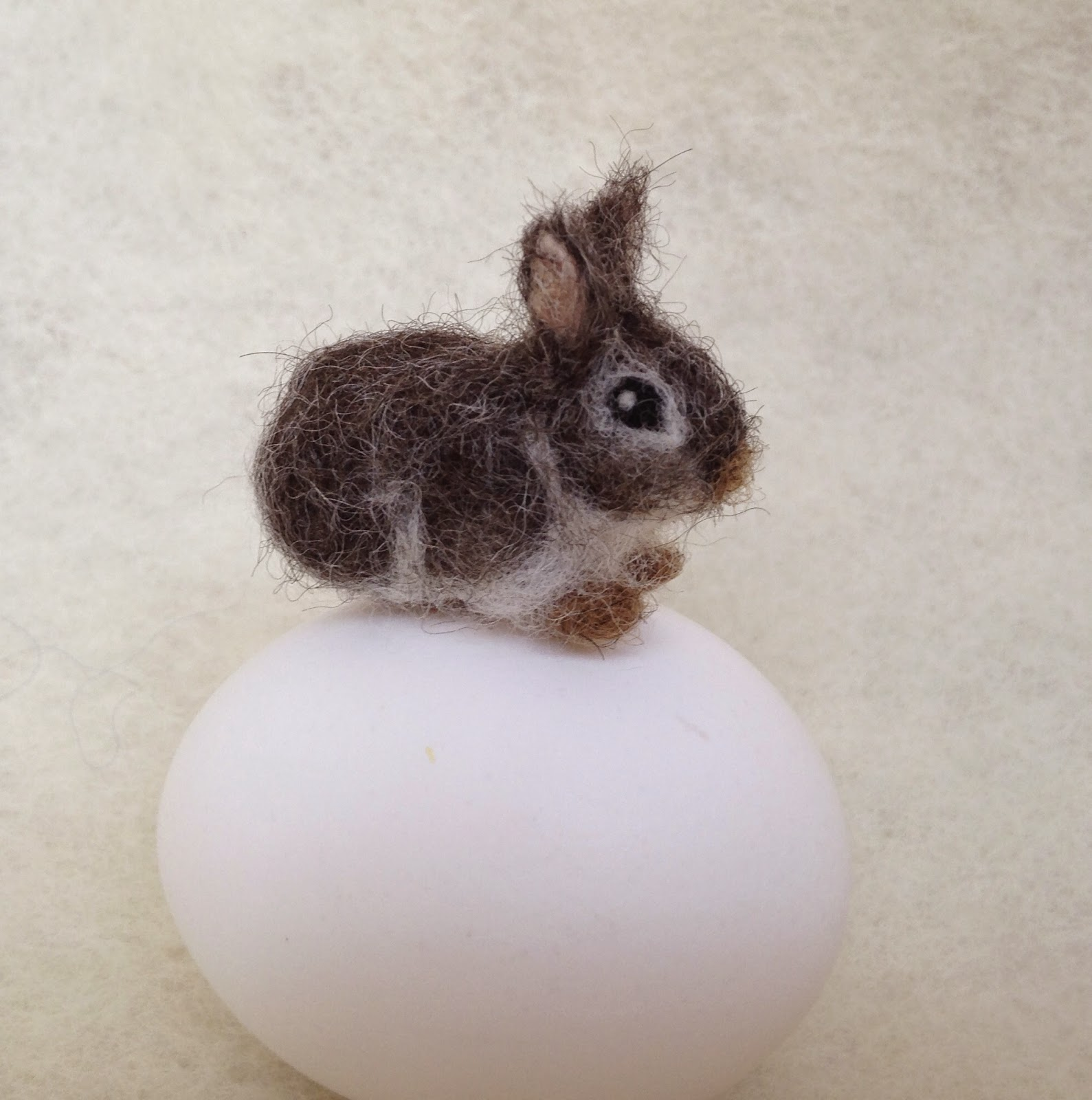 Miniature needle felted bunny