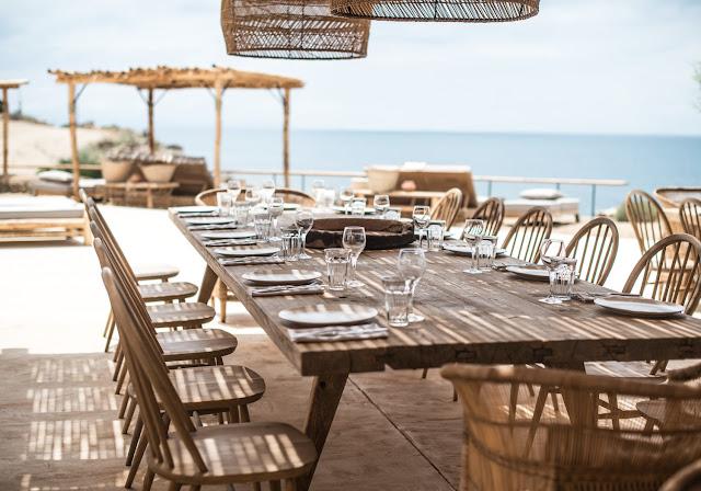 mykonos,hôtel,décoration,grèce,mer,bois,canisses,paille,jonc, naturel