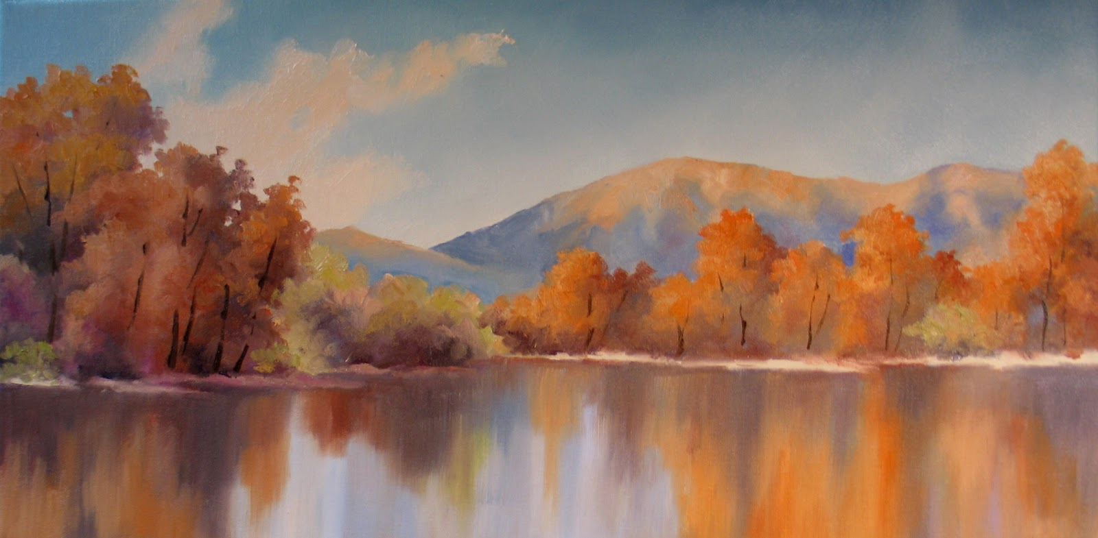 Nel s everyday painting fall panorama and revised fall meadow