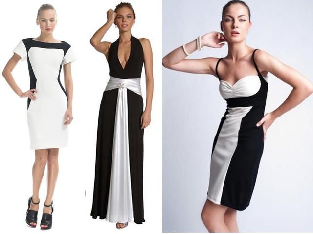 """Vestido-preto-e-branco"" www.alinhavosdemoda.com.br"