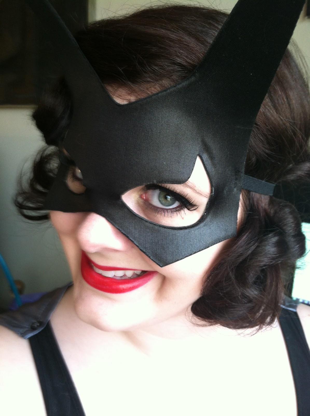 Pretty Girls In Pearls Simple Batgirl Halloween Costumemakeup Tutorial