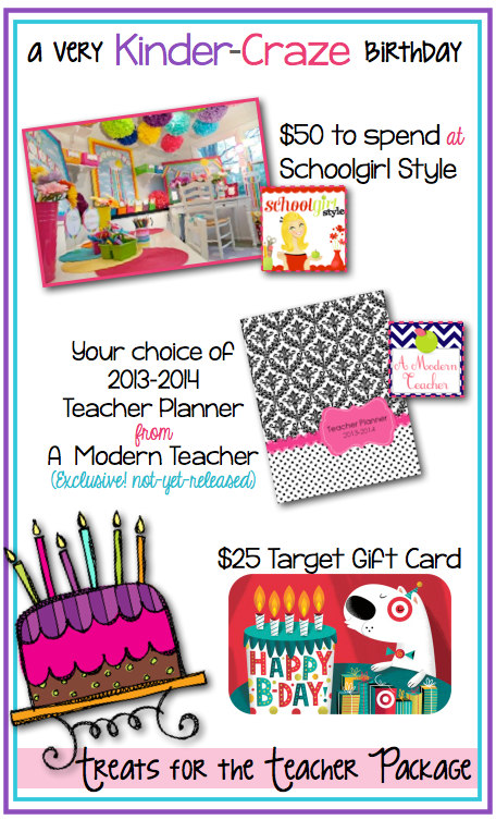 AWESOME GIVEAWAY at Kinder-Craze.... $25 Target Gift Card and more!