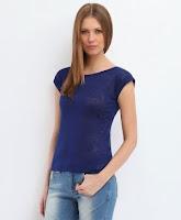 Bluza moderna, transparenta, de culoare bleumarin (Top Secret)