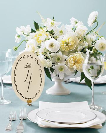 Número de mesa blanco y negro