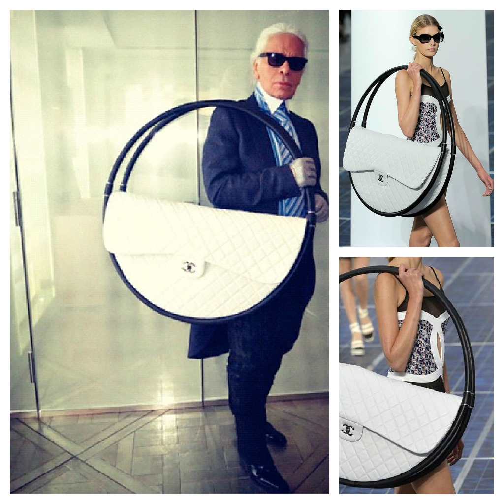 Stylefluid Trendz: Giant Chanel beach bag in hula hoops (Spring ...