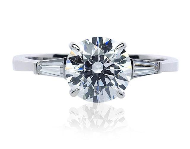 Diamond Solitaire Ring by Suranas Jewelove