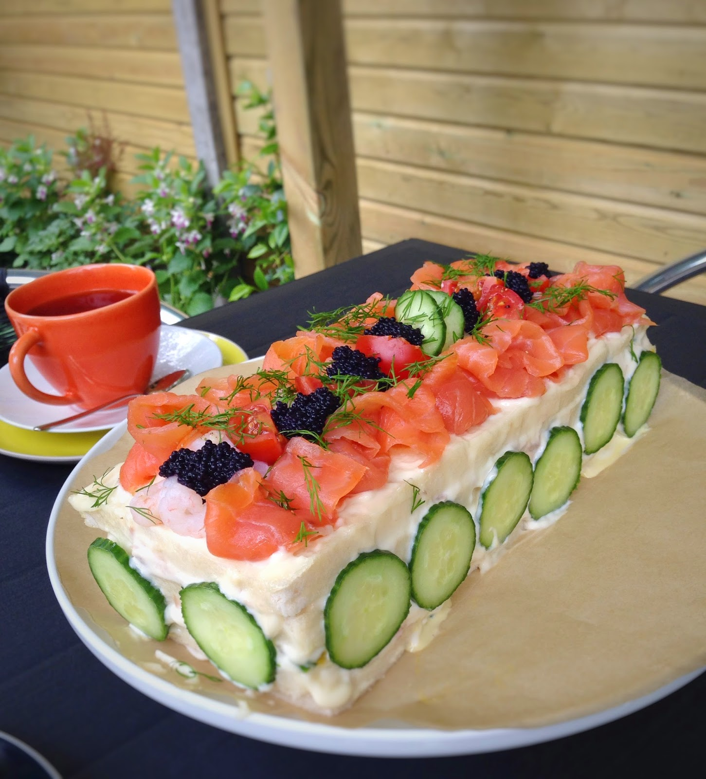 A Twist on High Tea - Swedish Sandwich Cake Recipe