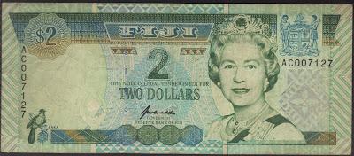 Fiji 2 Dollar 1996 P# 96b