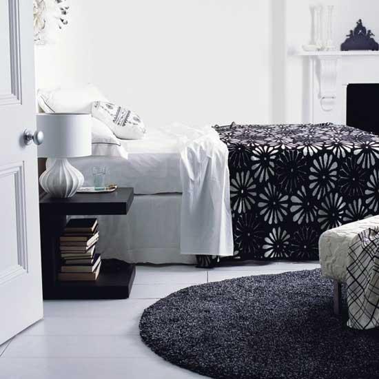 de Idéias sobre moda e decoração Quartos branco e preto