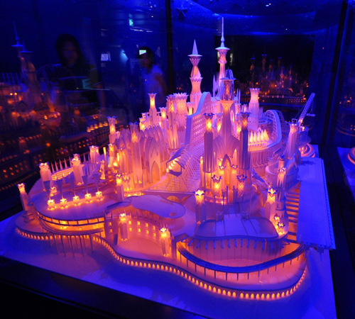 paper craft castle  1 - A beautiful paper craft work..!!
