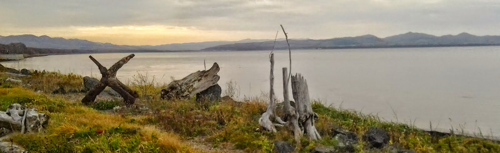Mysterious fane on the banks of the Sea of Ohkotsk