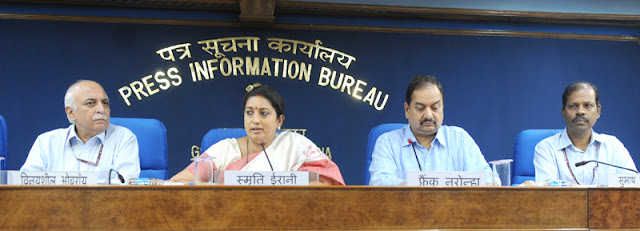Union Minister for Human Resource Development, Smt. Smriti Irani