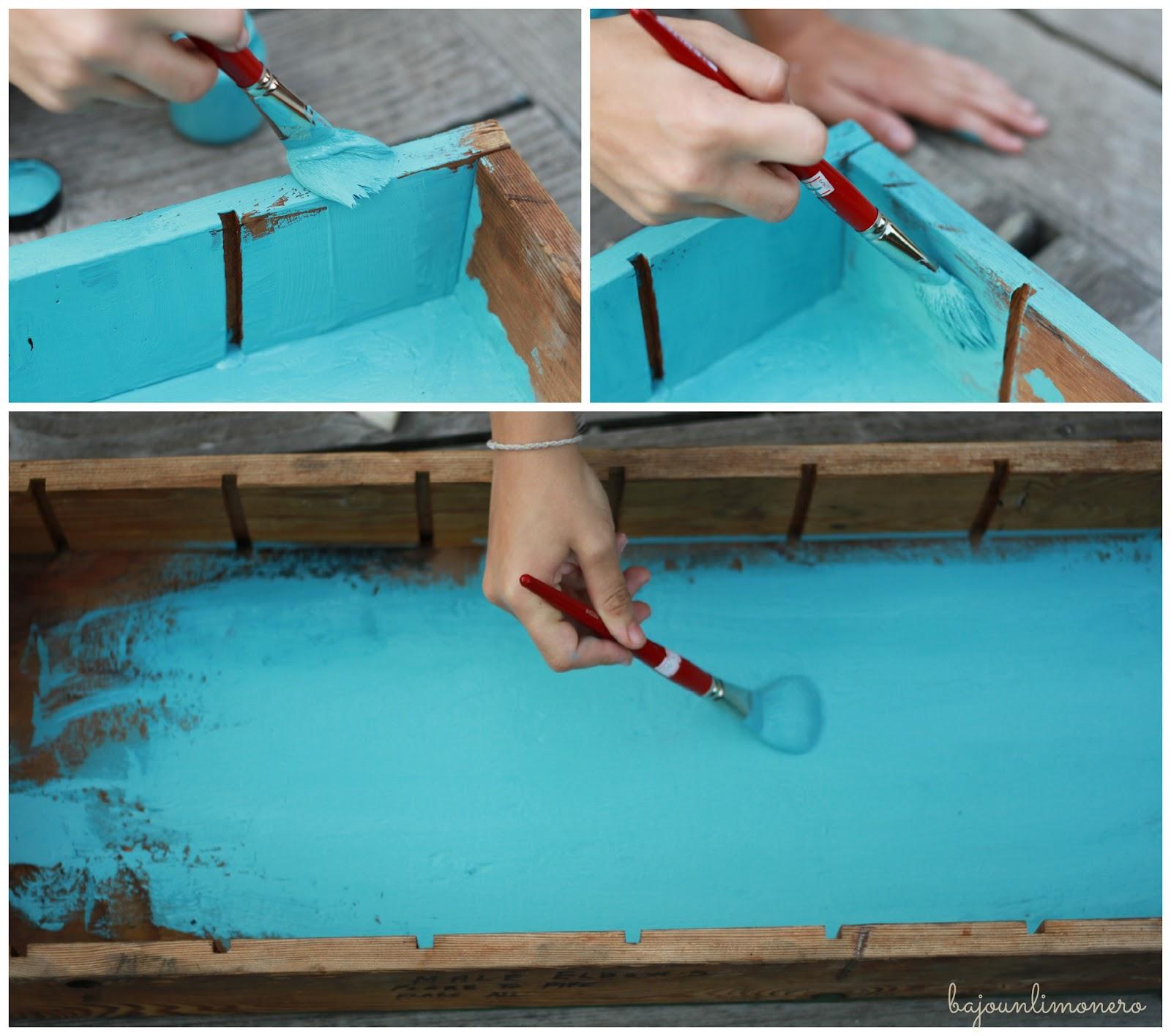 Bajo un limonero primer mueble pintado con pintura chalk - Muebles de colores pintados ...
