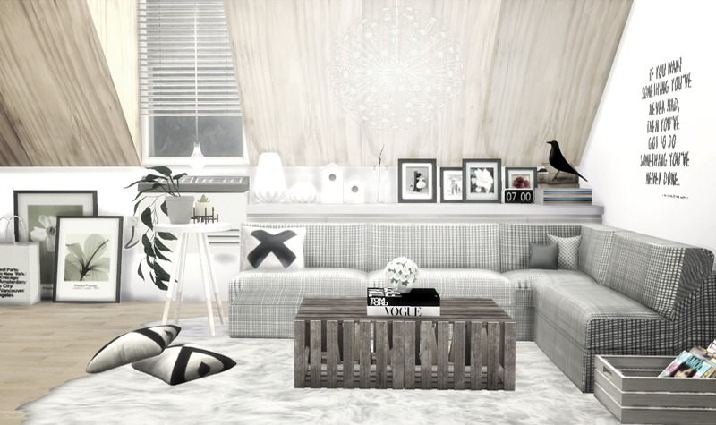 My Sims 4 Blog Scandinavian Living Room Recolors By Viikiita