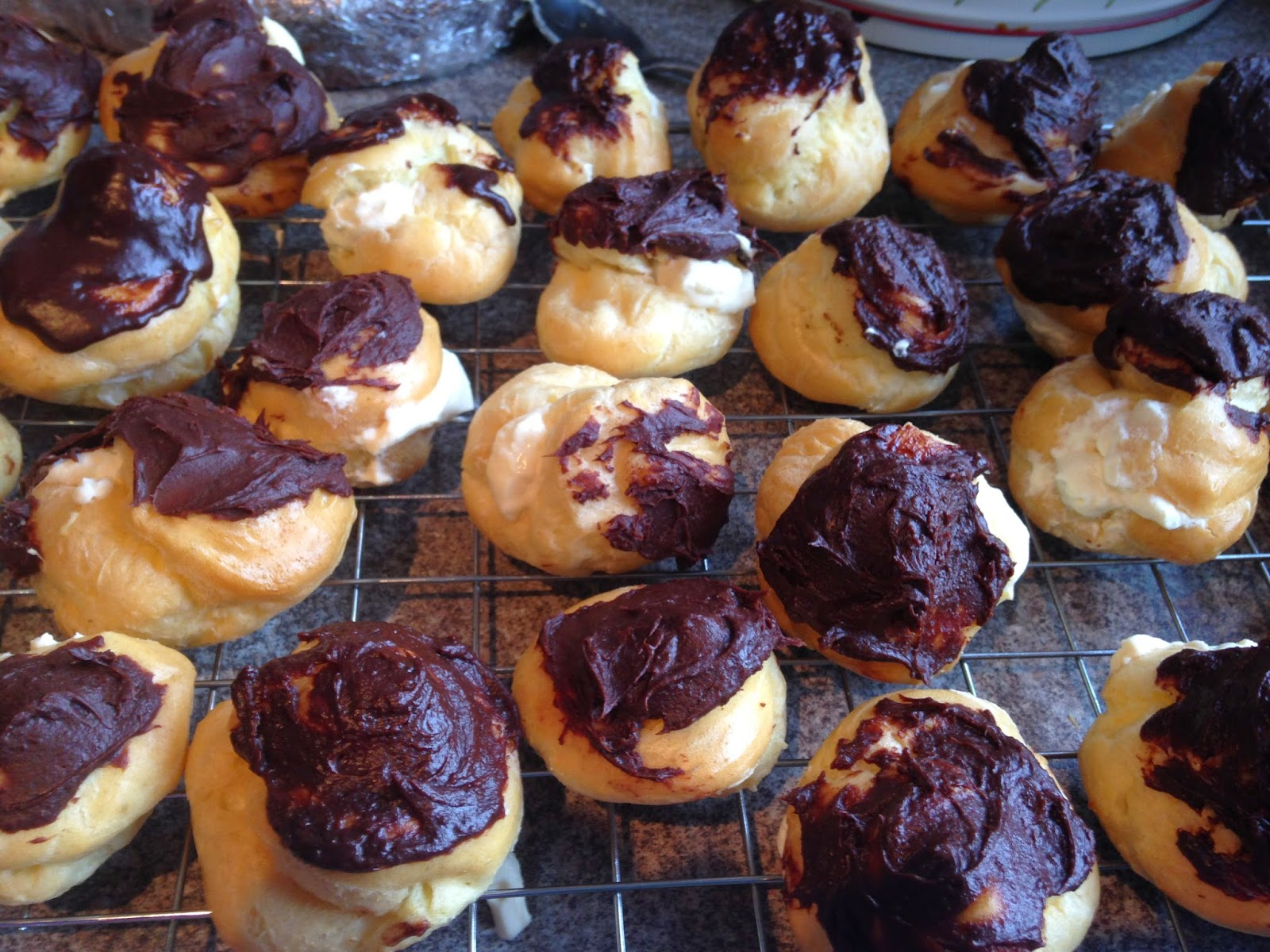 Chocolate orange profiteroles & sibling rivalry
