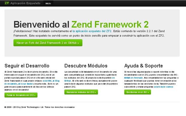 Configurando el módulo. URL amigables en Zend Framework 2