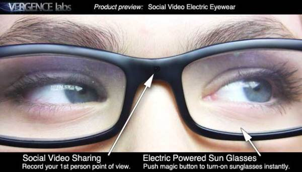 Vergence Labs Glasses for social media sharing