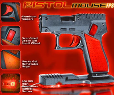 Computer mouses that look like weapons handgun