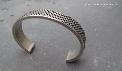 bracelet manchette homme argenté Orner