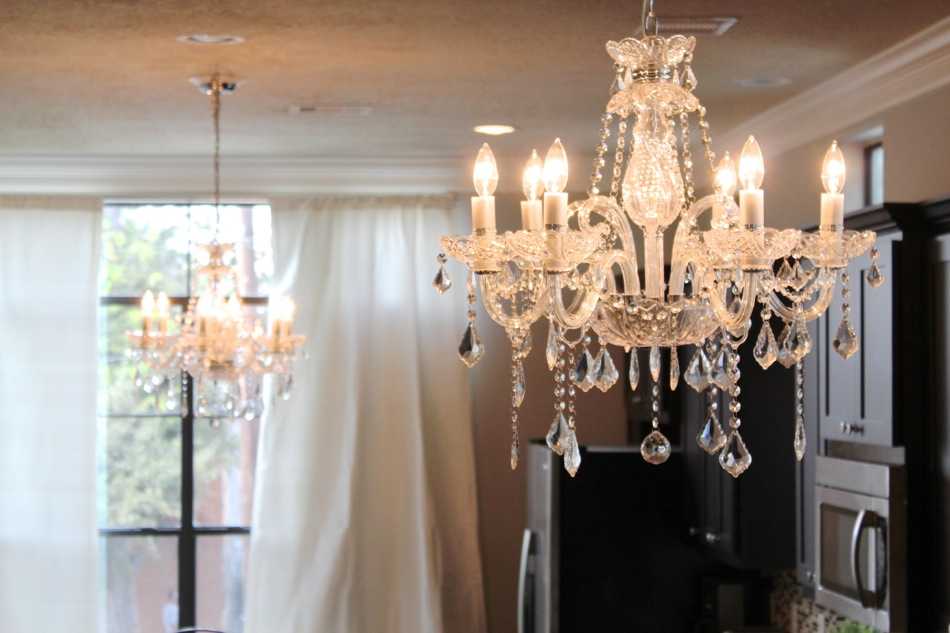 restoration hardware curtains for the kitchen dining room chandelier