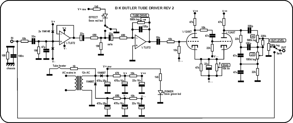 StompBoXed - The Guitar Pedal Builders Repository: BAJA Tube Driver on switch starter diagram, rocker switch diagram, 3-way switch diagram, switch outlets diagram, switch circuit diagram, relay switch diagram, switch lights, electrical outlets diagram, network switch diagram, switch socket diagram, wall switch diagram, switch battery diagram,