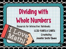 http://www.teacherspayteachers.com/Product/Dividing-with-Whole-Numbers-Flippables-for-Interactive-Notebooks-1111275