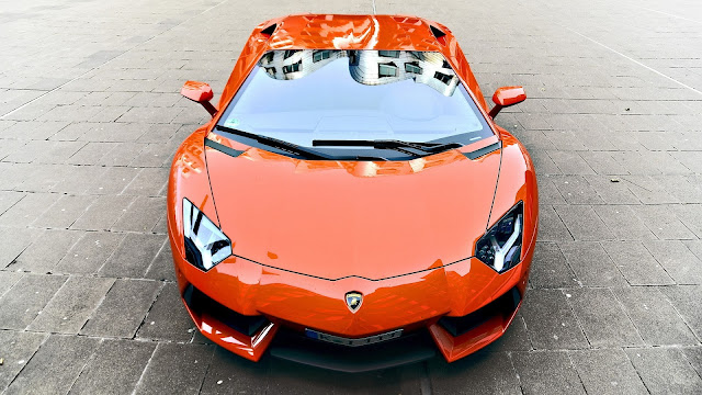 Red Lamborghini Front View
