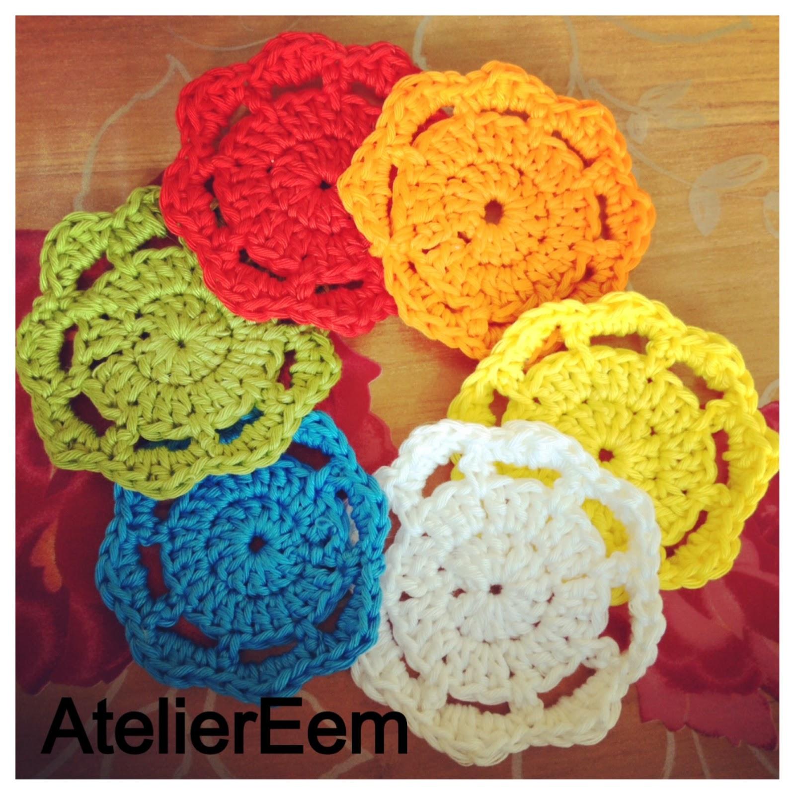 Atelier Eem Patroon Voor Gehaakte Bloem Onderzetter Crochet
