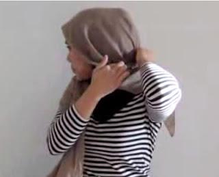 Creation hijab urban chic hanya 3 menit part 5