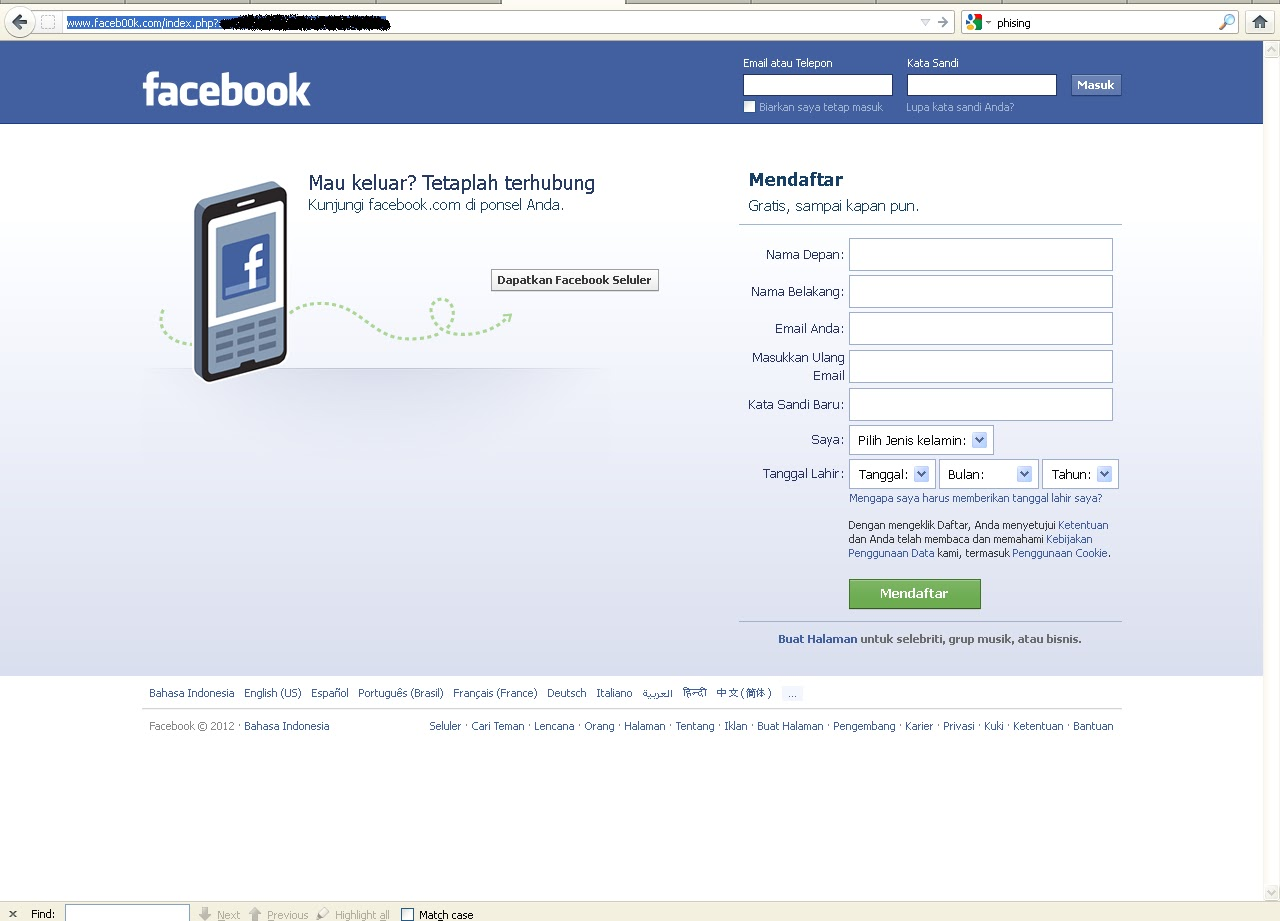 Phishing Facebook / Fi...