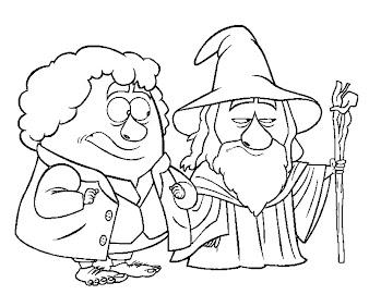 #9 Hobbit Coloring Page