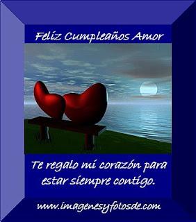 Tarjeta de Cumpleaños Romantica con Pareja de Corazones